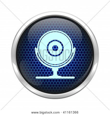 Abstract web cam icon