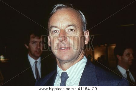 BRIGHTON, ENGLAND - OCTOBER 5: Clive Soley, Labour party Member of Parliament for Hammersmith, attends the party conference on October 5, 1989 in Brighton, Sussex. He is now Baron Soley.