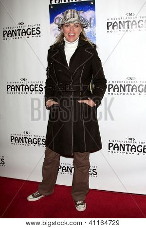 LOS ANGELES - JAN 15:  Elaine Hendrix arrives at the opening night of 'Peter Pan' at Pantages Theater on January 15, 2013 in Los Angeles, CA