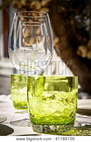 Table Setting For Al Fresco Dining, Portrait