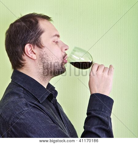Man Drink Wine