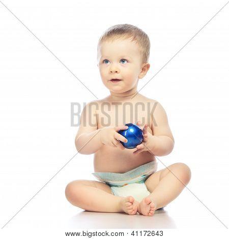 Baby With Chrismas Ball