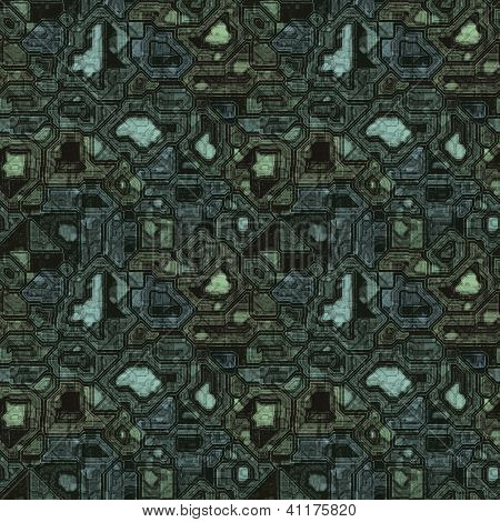 Digital Circuitry Circuit Board Seamless Pattern