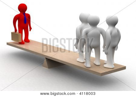 Conceptual Image Of Teamwork.