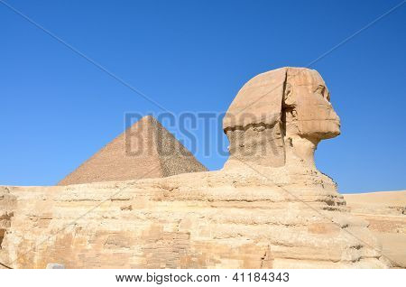 Great Sphinx of Giza and the Great Pyramid