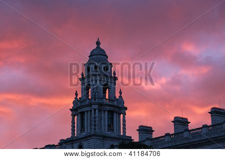 Pôr do sol de Londres