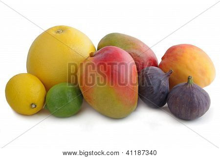 multicolor tropical fruits