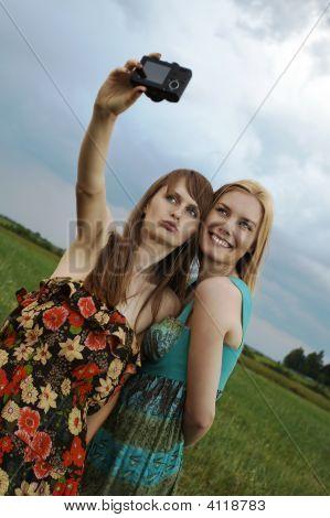Sexy Girls With Digital Camera