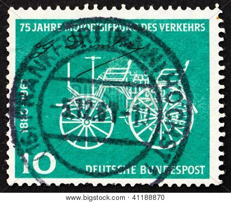 Postage Stamp Germany 1961 Gottlieb Daimler's Car