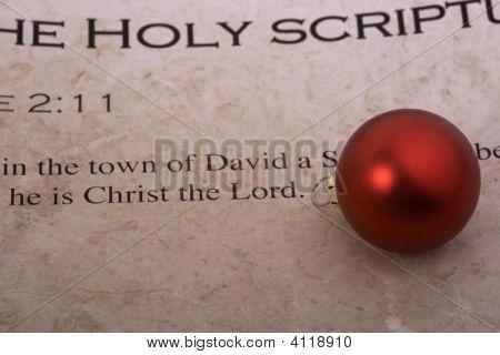 Christmas Bulb On Bible Scripture