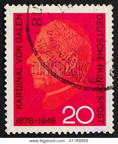 Selo postal Alemanha 1966 Cardeal Von Galen