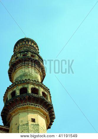 Close up minaret Charminar