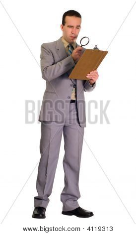 Man Inspecting Checklist