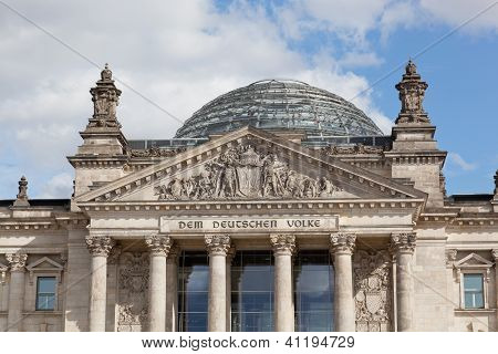 Reichstag at Berlin Germany.