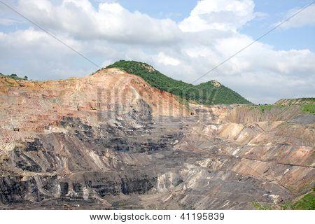 Opencast coal mine