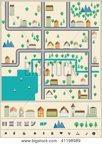 City builder vector elements.