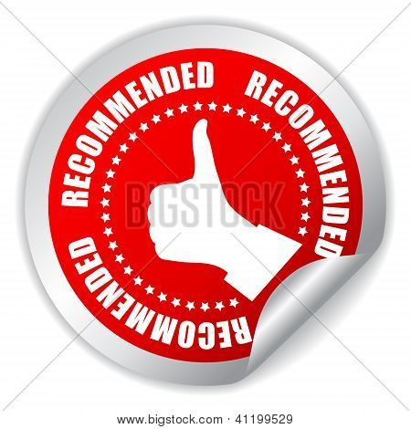 Recommended thumb up sticker