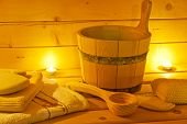 pic of sauna  - interior of sauna and sauna accessories - JPG
