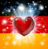 Love Germany Flag Heart Background