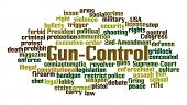 image of assault-rifle  - Gun Control Word Cloud on White Background - JPG