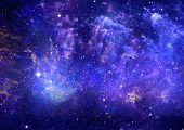 stock photo of meteorite  - Stars of a planet and galaxy in a free space