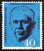 Estampilla Alemania 1960 George C. Marshall