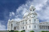 stock photo of saracen  - Beautiful Victoria Memorial Hall Is Made Of Makrana Marbel - JPG