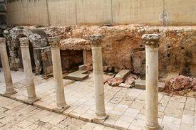 image of cardo  - Ancient Roman Cardo street - JPG