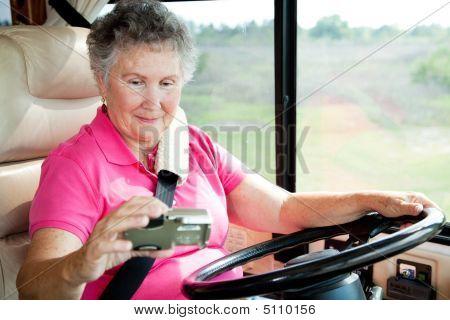 Rv Senior - Woman Using Gps
