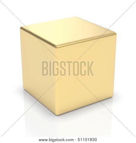 Golden 3d cube