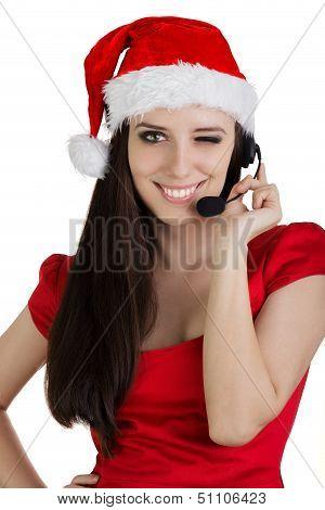 Christmas Call Center Girl