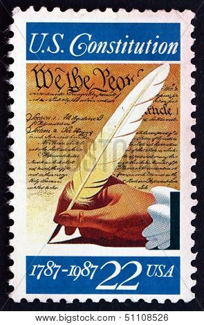 Postage Stamp Usa 1987 Signing Of The Constitution