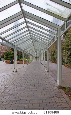 Empty Covered Walkway