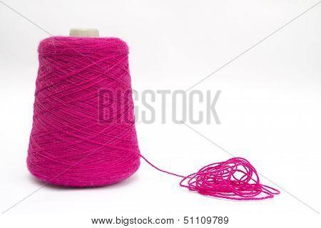 Pink wool