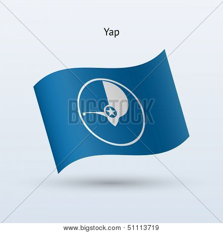 Yap flag waving form. Vector illustration.