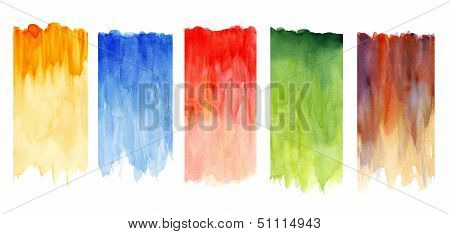 Multicolored watercolors