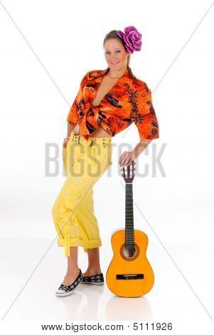 Guitarra de ropa de verano mujer