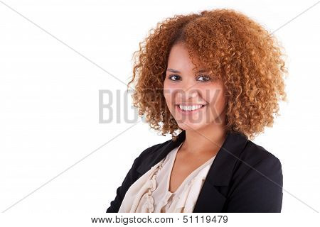 Portrait Of A Young African American Business Woman - Black People