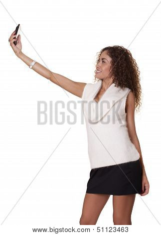 Beautiful Woman Takes Picture Of Herself.