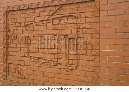Decorative Red Brick Wall