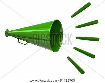 Green megaphone icon