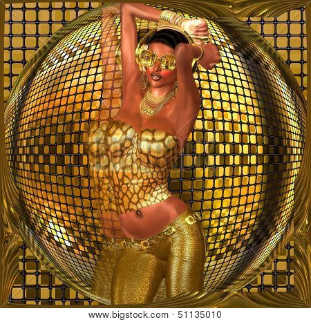 Disco ball dance girl