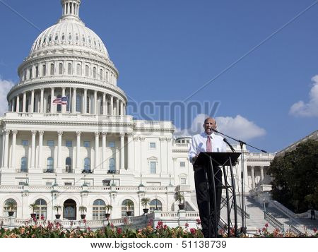 WASHINGTON-SEPT 11: Rep. Louie Gohmert (R-TX) speaks at the 911 Justice for Benghazi rally at the US Capitol on September 11, 2013 in Washington, DC. The event pushed for H.Res. 36 and H.Res. 306.