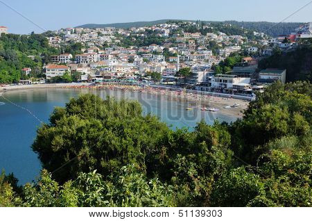 the Ulcinj town in Montenegro