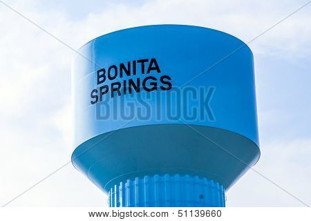 Blue Painted Water Tower