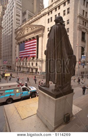 Wall St. G. Washington Statue, Federal Hall, Nyse, Nyc