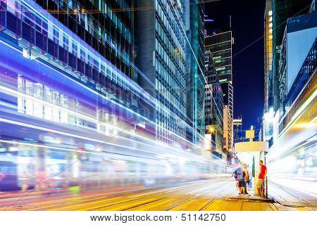Traffic light in city