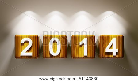 2014 Year Cubes 3D