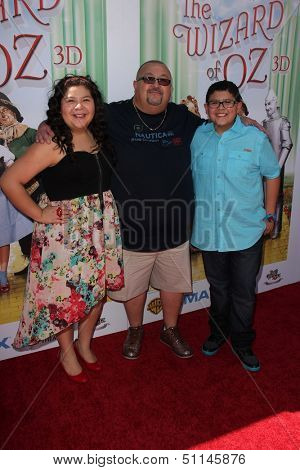 LOS ANGELES - SEP 15:  Raini Rodriguez, guest, Rico Rodriguez at the