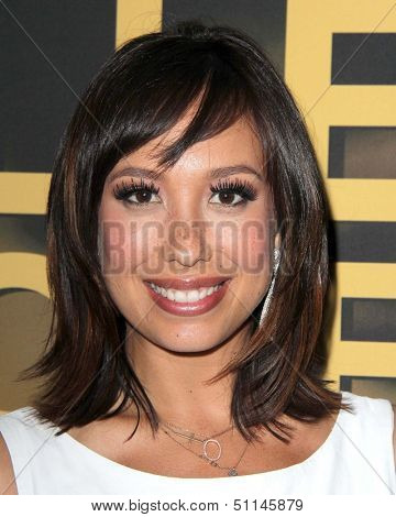 LOS ANGELES - SEP 16:  Cheryl Burke at the Wendy's Ultimate Viewing Party With Cheryl Burke at Wendy's on September 16, 2013 in Los Angeles, CA